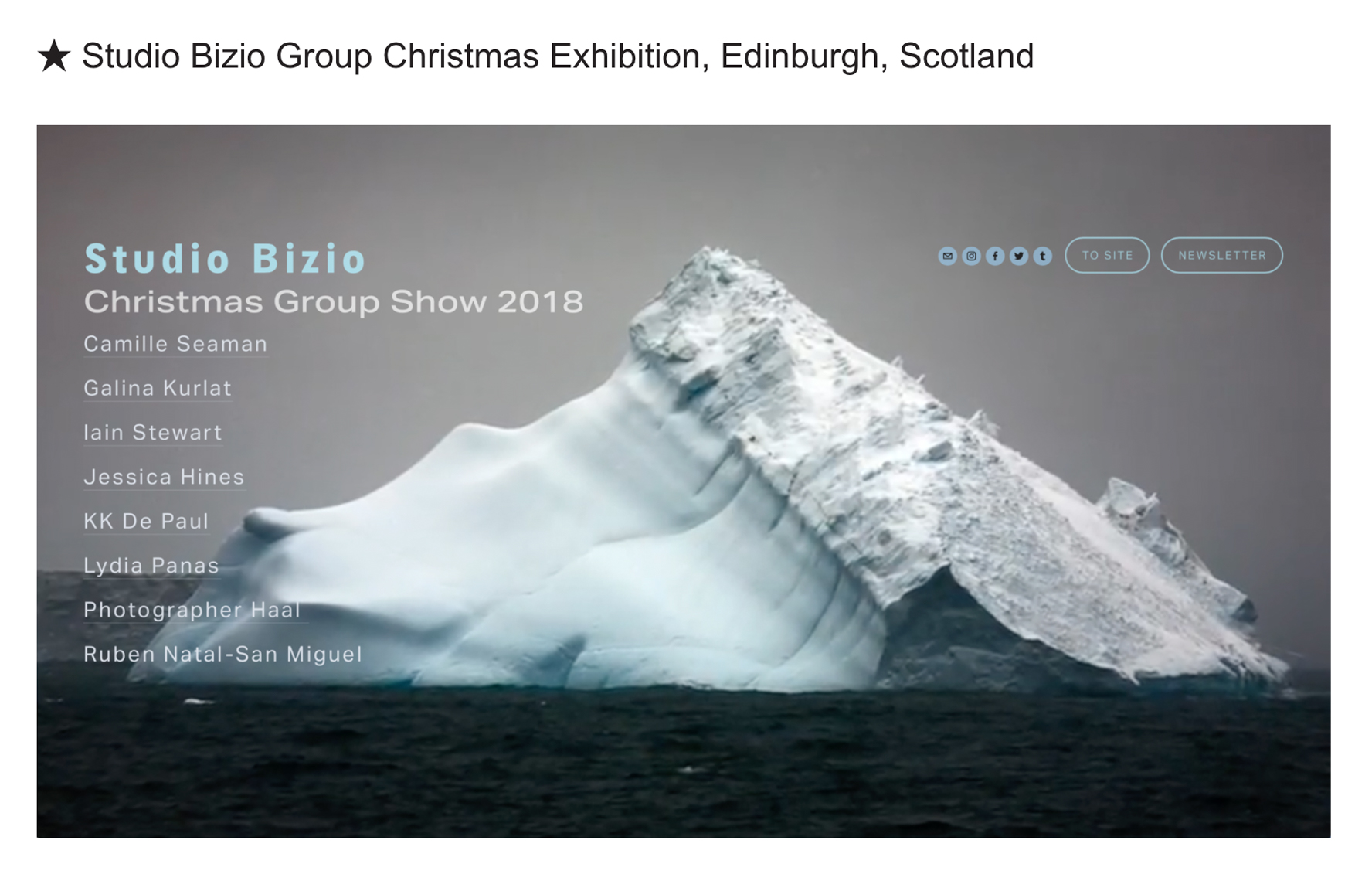 Studio Bizio Group Christmas Exhibition 2018